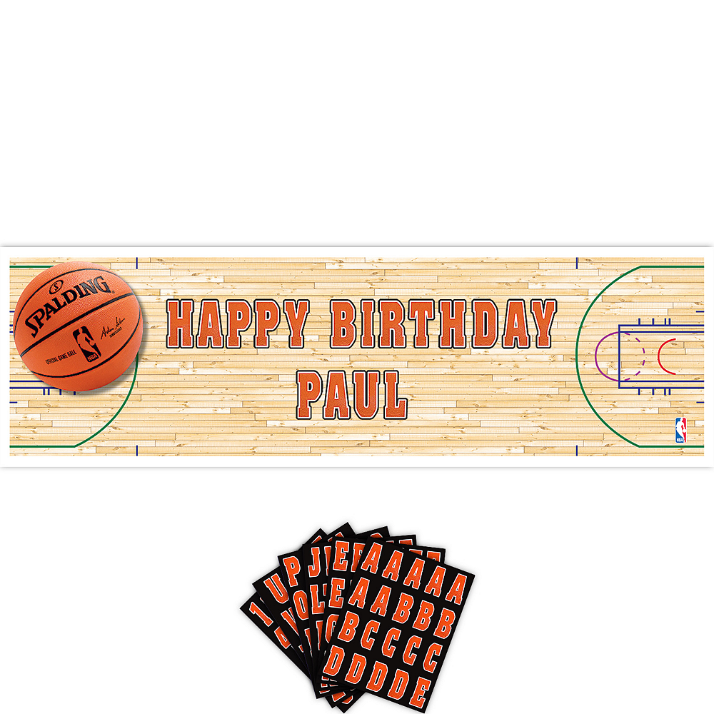 Giant Spalding Basketball Personalized Banner Kit Image #1