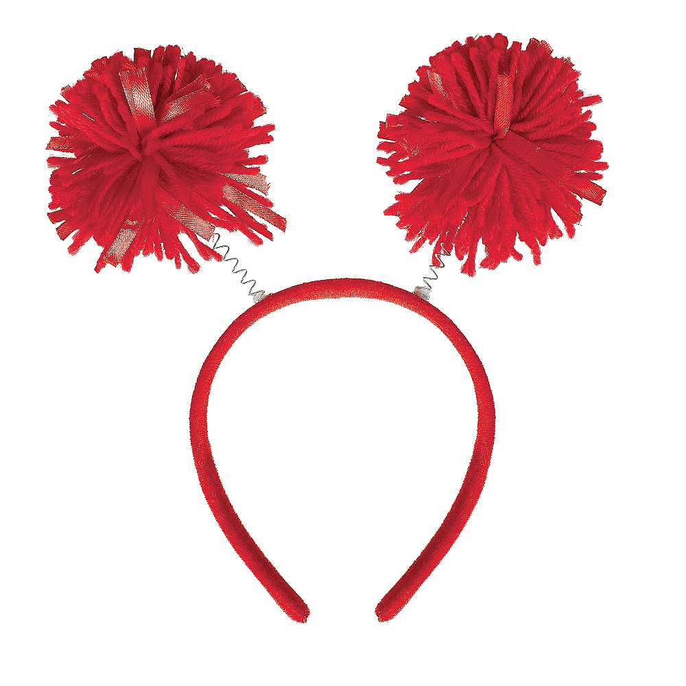 Red Pom-Pom Head Bopper Image #1
