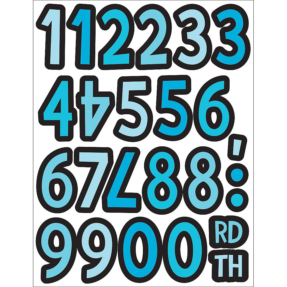 Giant Personalized Blue Safari Boy Baby Shower Banner Kit Image #3