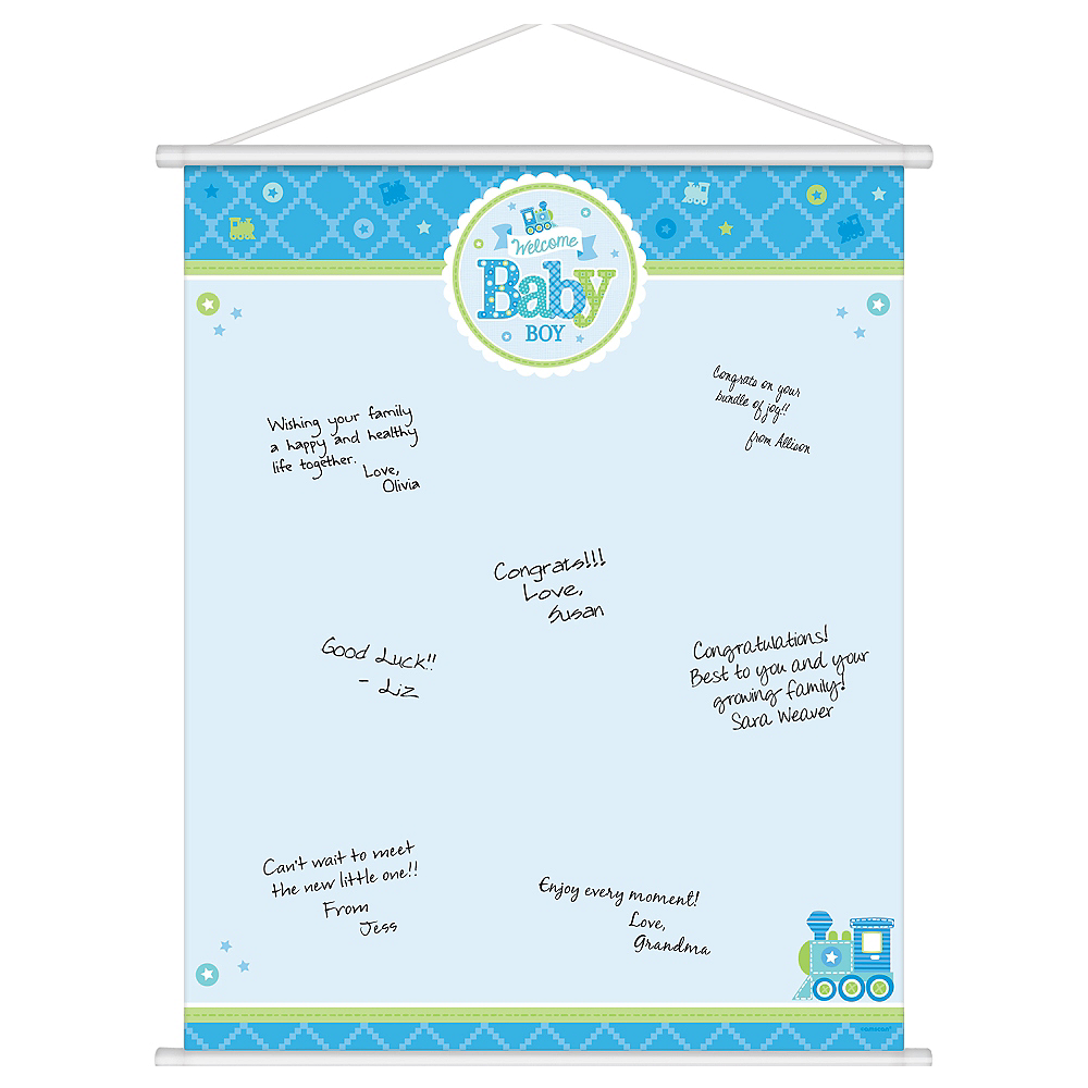 Welcome Baby Boy Baby Shower Sign In Sheet 19in X 24in Party City