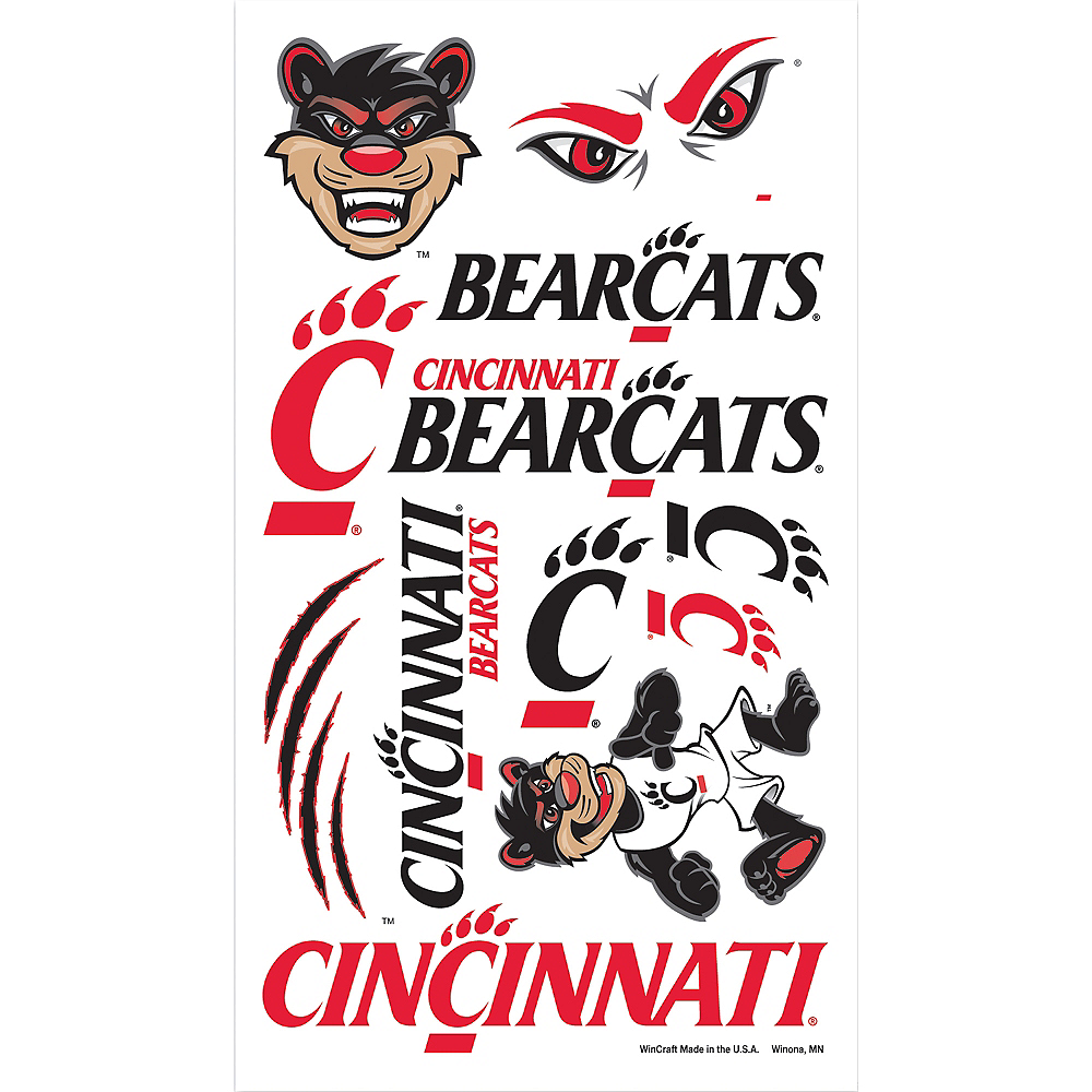Cincinnati Bearcats Tattoos 10ct Image #1