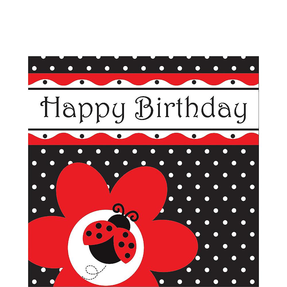 Happy Birthday Fancy Ladybug Lunch Napkins 16ct Image #1