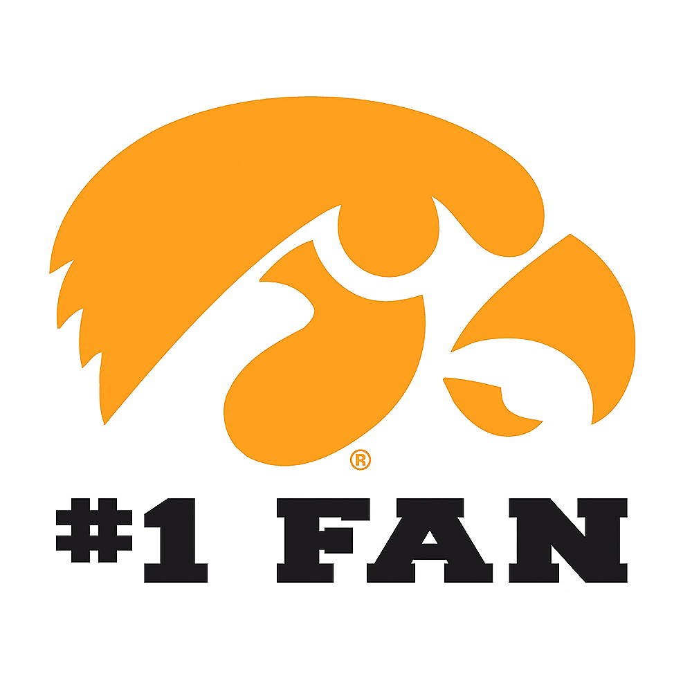 Iowa Hawkeyes #1 Fan Decal Image #1