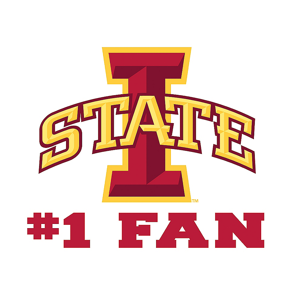 Iowa State Cyclones #1 Fan Decal Image #1