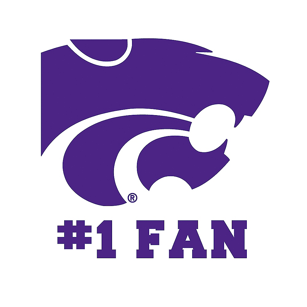 Kansas State Wildcats #1 Fan Decal Image #1