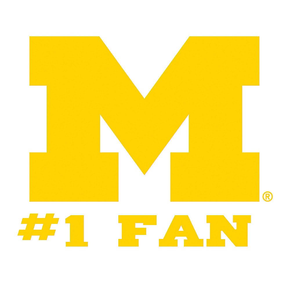 Michigan Wolverines #1 Fan Decal Image #1
