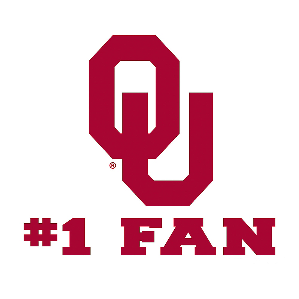 Oklahoma Sooners #1 Fan Decal Image #1