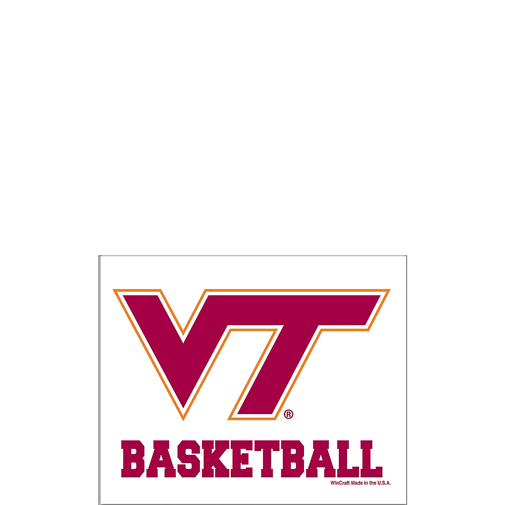 Virginia Tech Hokies Basketball Decal Image #1