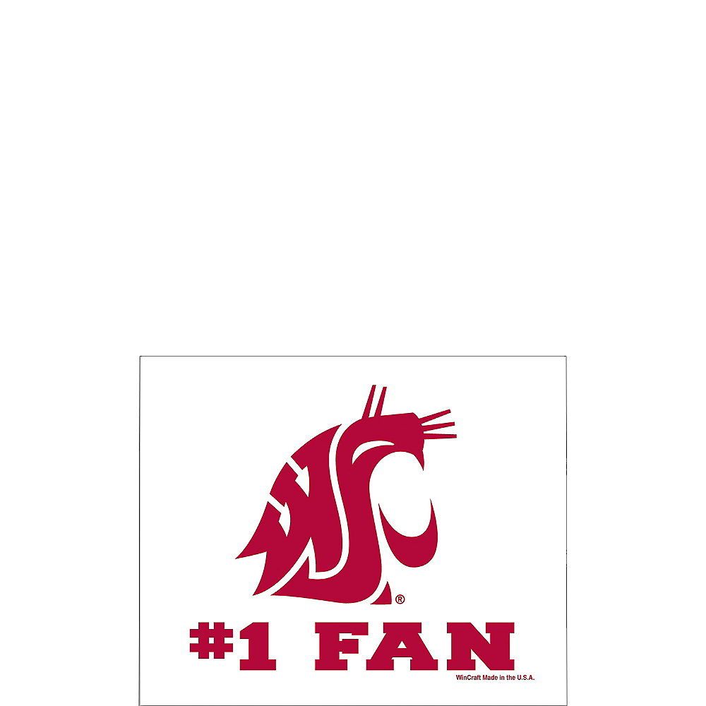 Washington State Cougars #1 Fan Decal Image #1