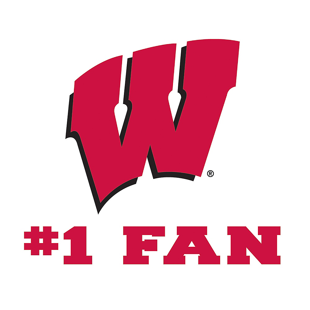 Wisconsin Badgers #1 Fan Decal Image #1
