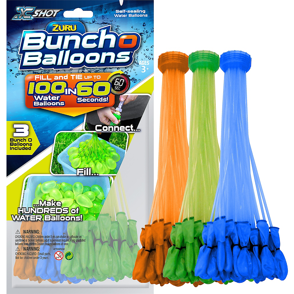 Blue, Green & Orange Bunch O Balloons 105ct | Party City