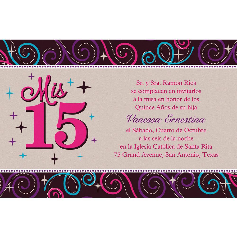 Custom Mis Quince Anos Invitations Image #1