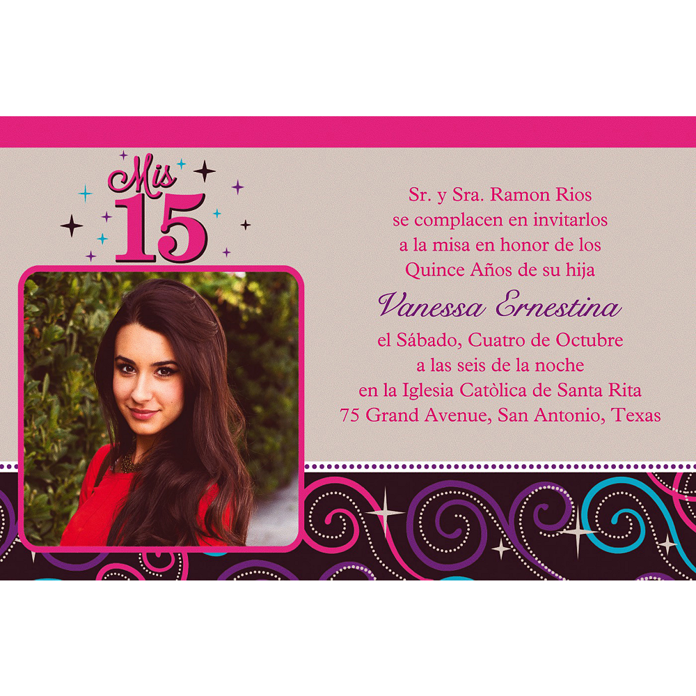 Custom Mis Quince Anos Photo Invitations Image #1