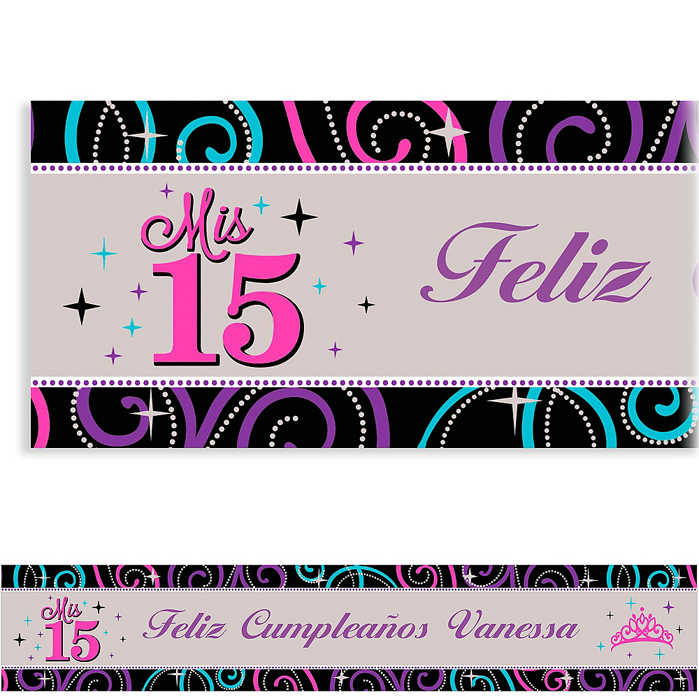 Nav Item for Custom Mis Quince Anos Banner 6ft Image #1