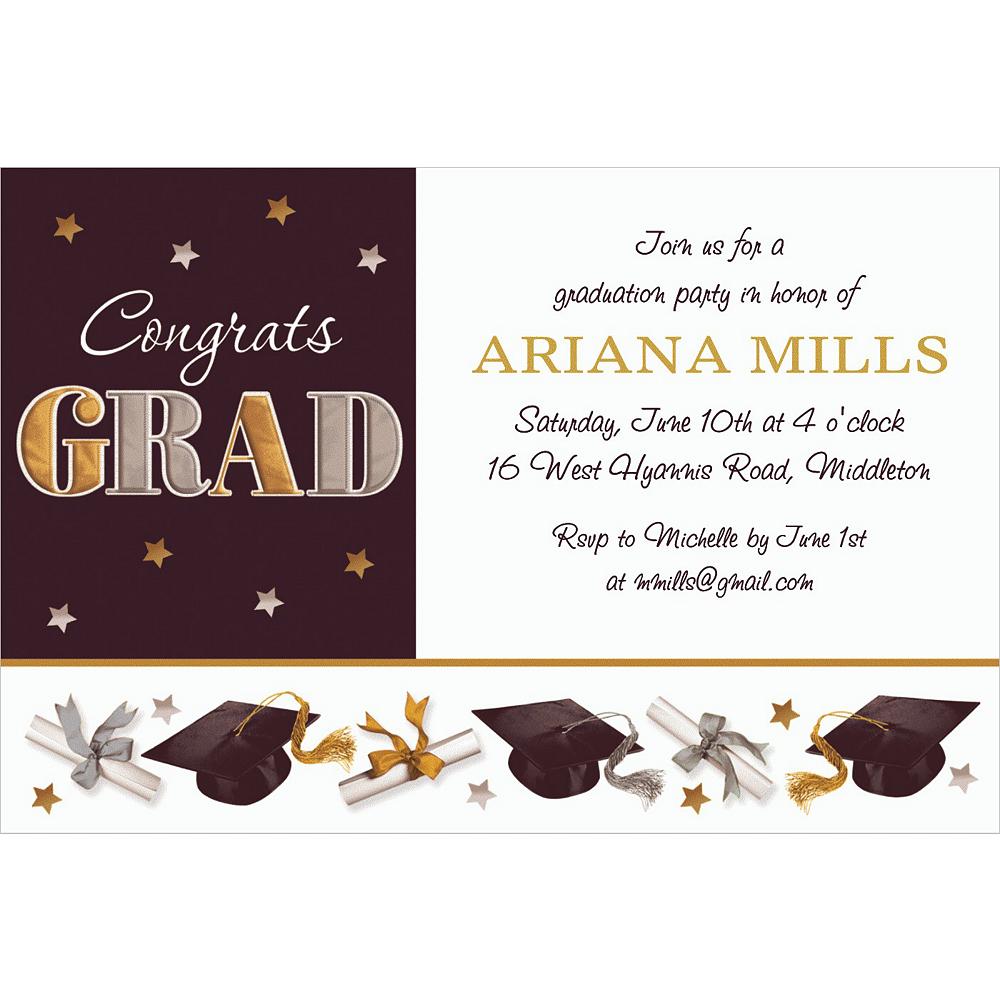 Custom Festive Grad Invitations Image #1