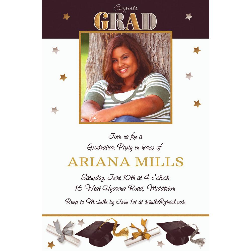 Custom Festive Grad Photo Invitations  Image #1