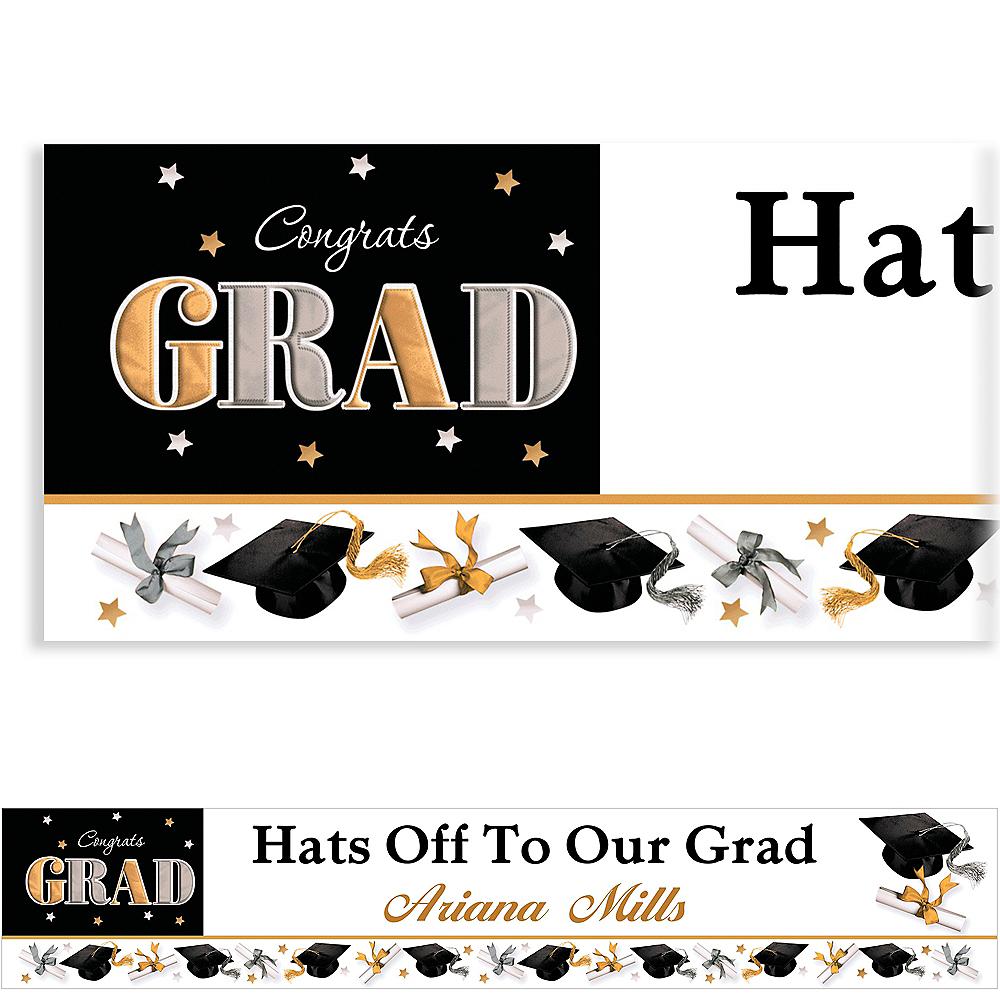 Custom Festive Grad Banner 6ft  Image #1