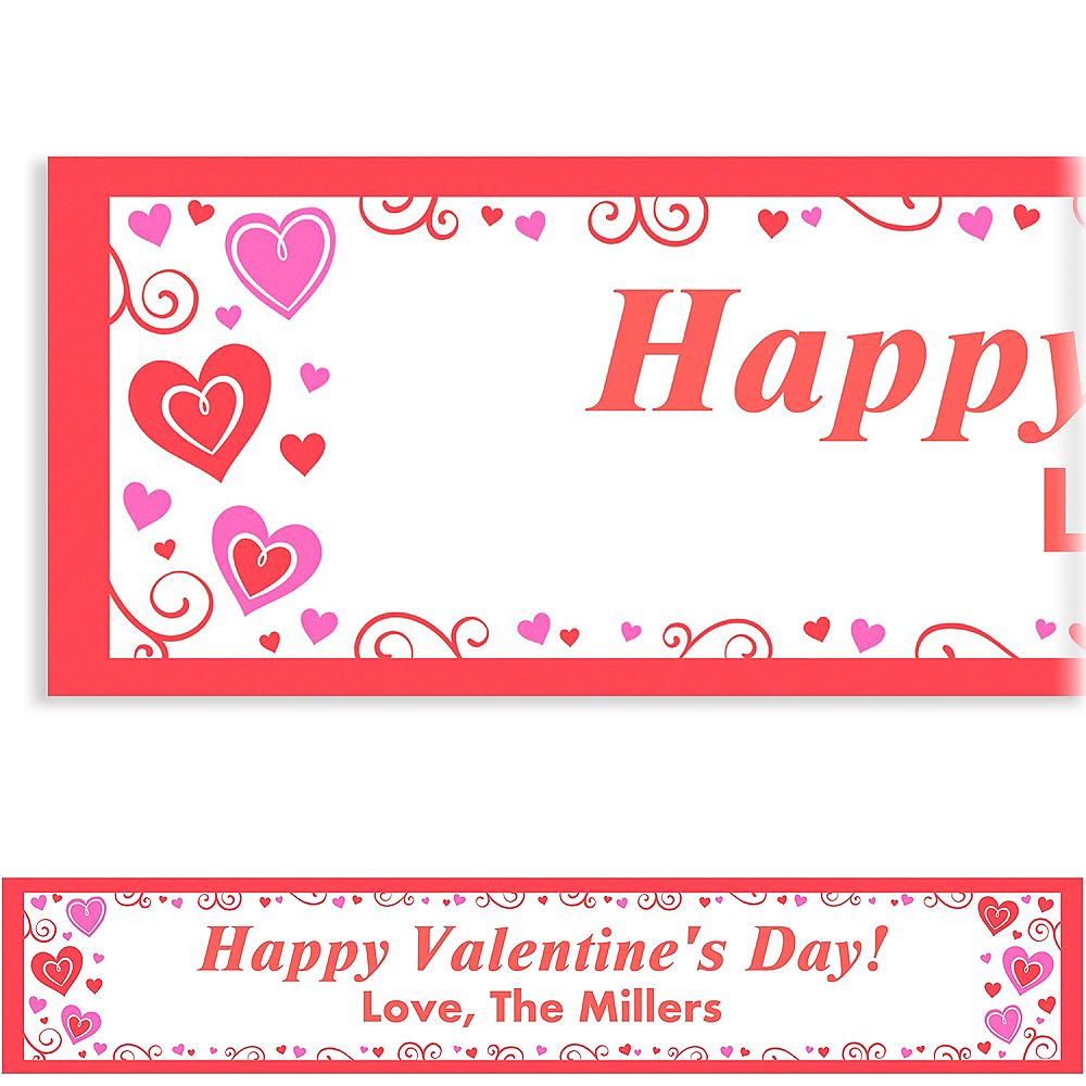 Custom Valentine Fun Banner 6ft Image #1
