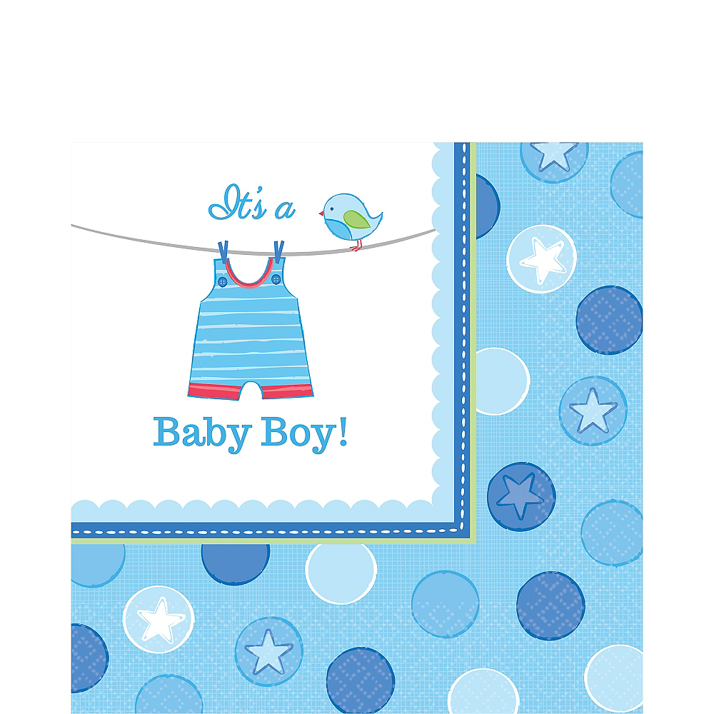 it s a boy baby shower lunch napkins 16ct party city canada