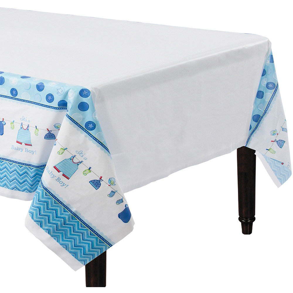 Its A Boy Baby Shower Table Cover 54in X 102in Party City