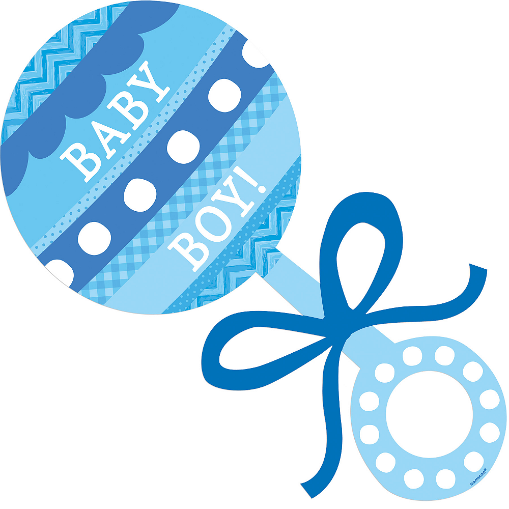 Baby Boy Rattle Cutout Image #1