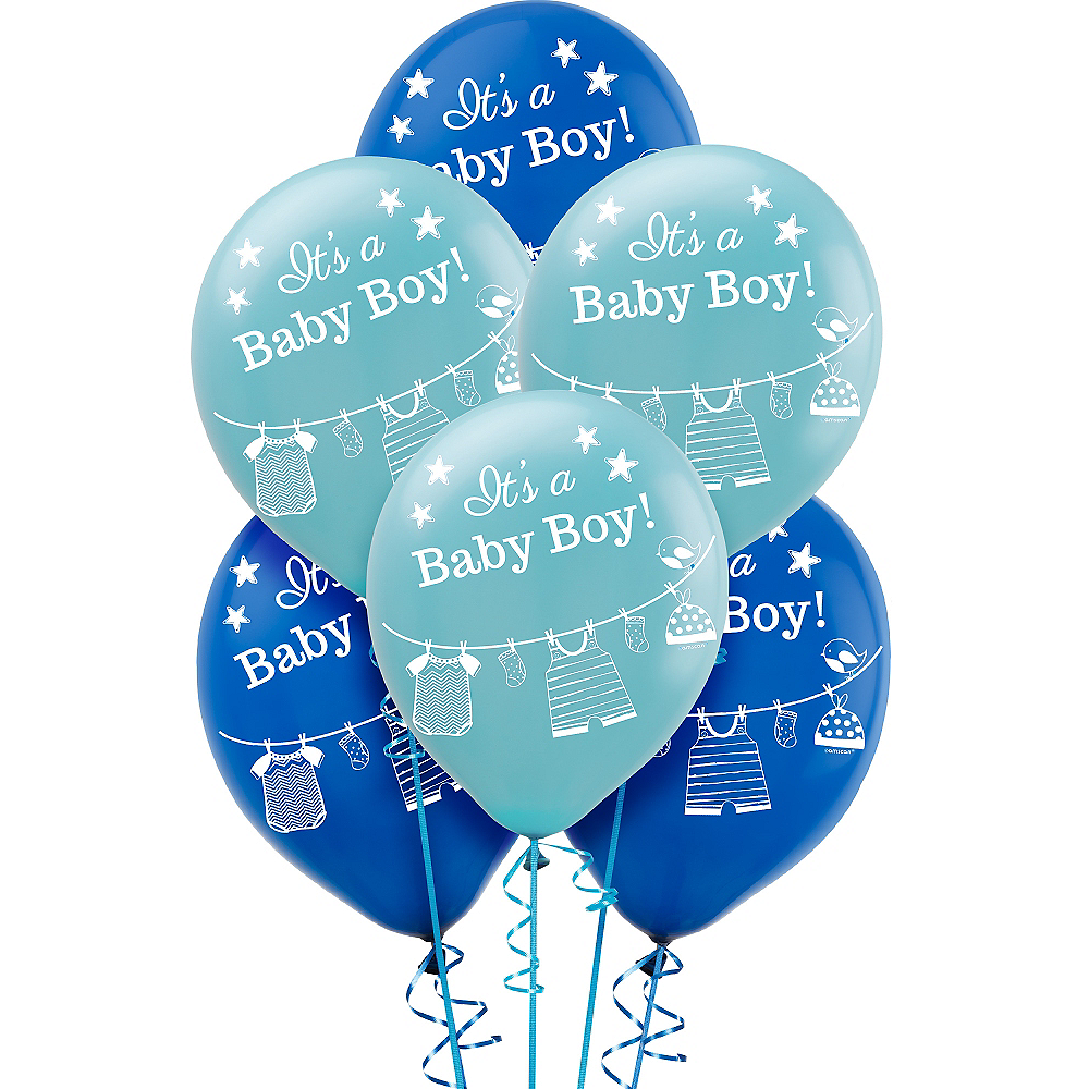 Its A Boy Baby Shower Balloons 15ct Image 1
