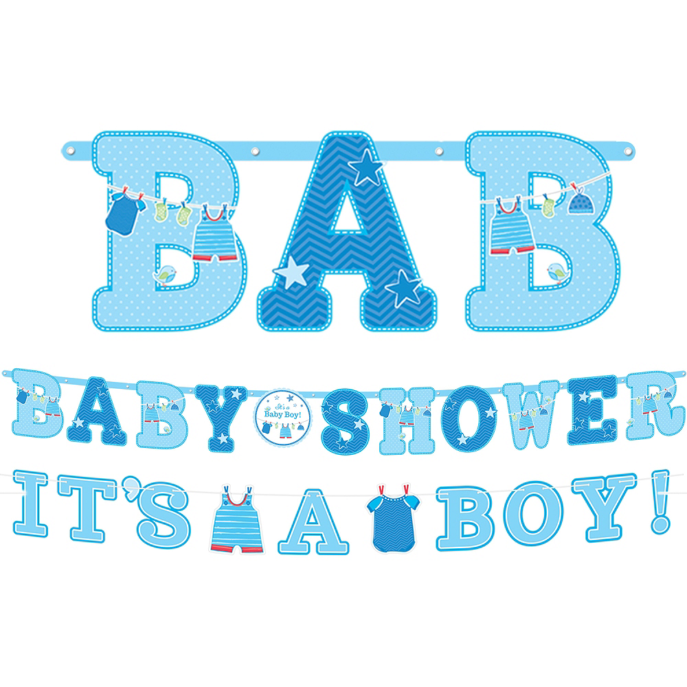 it s a boy baby shower banners 2ct party city