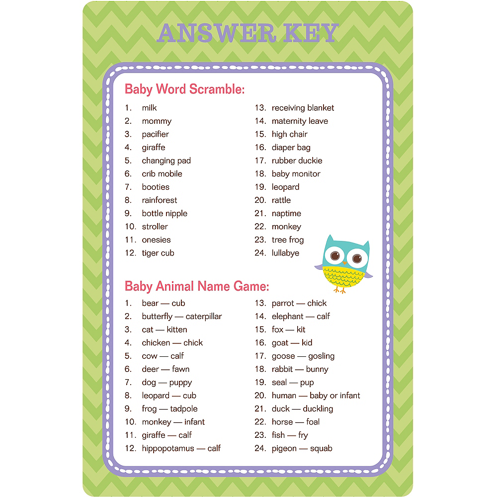 Woodland Baby Shower Game Kit Party City