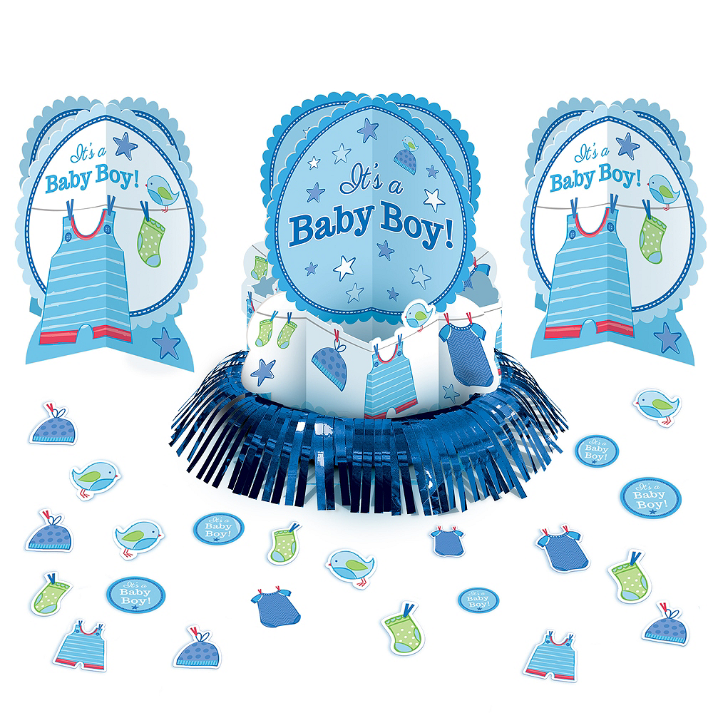 It's a Boy Baby Shower Table Decorating Kit 23pc Image #1