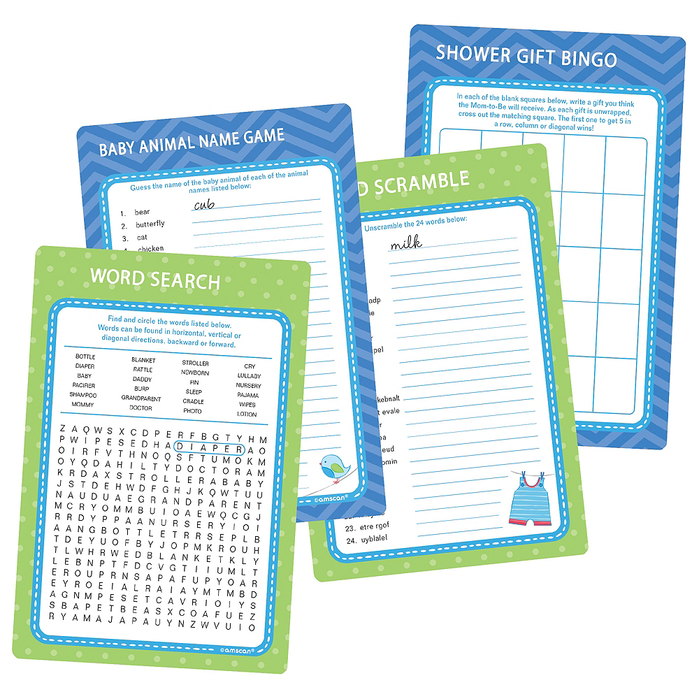 It's a Boy Baby Shower Game Kit Image # ...
