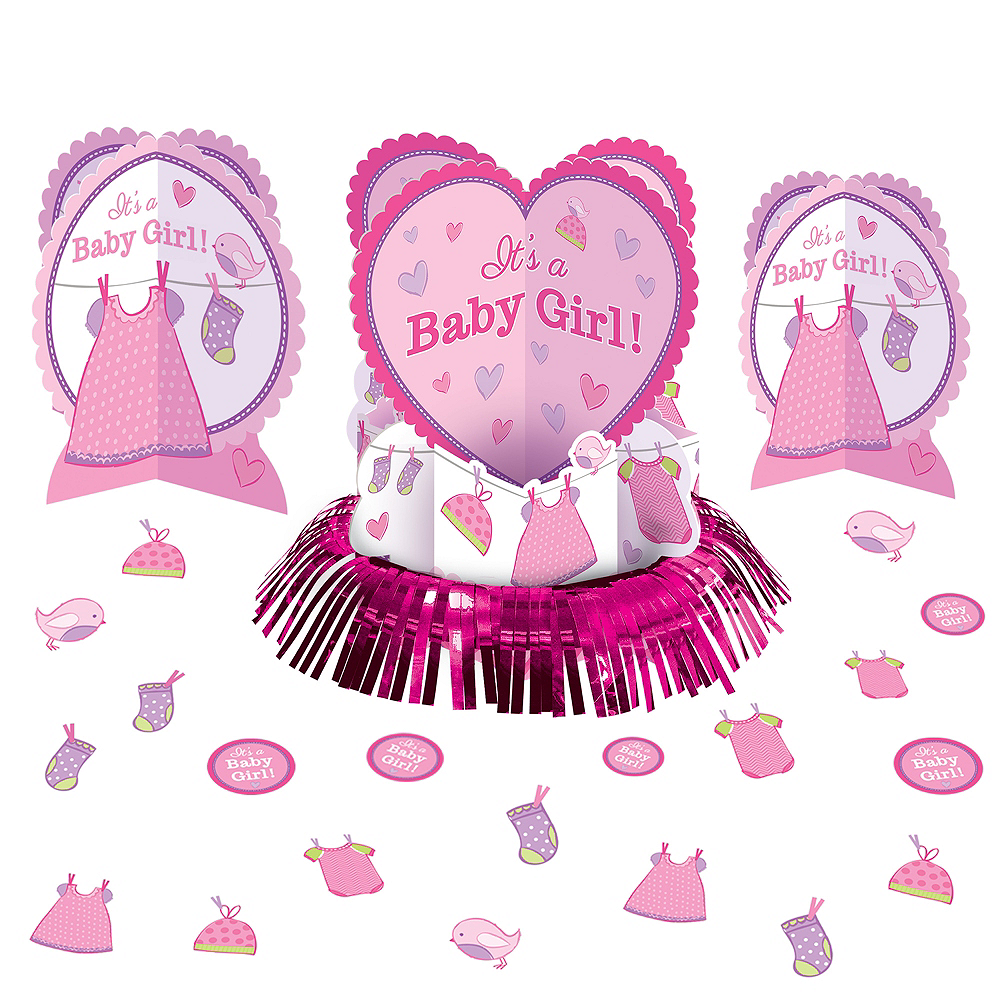 It S A Girl Baby Shower Table Decorating Kit 23pc