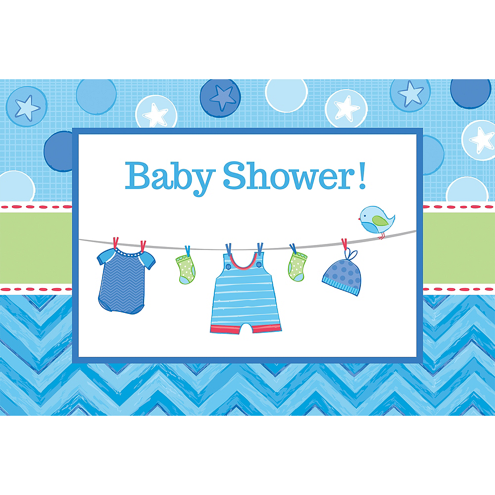 It's a Boy Baby Shower Invitations 8ct Image #1