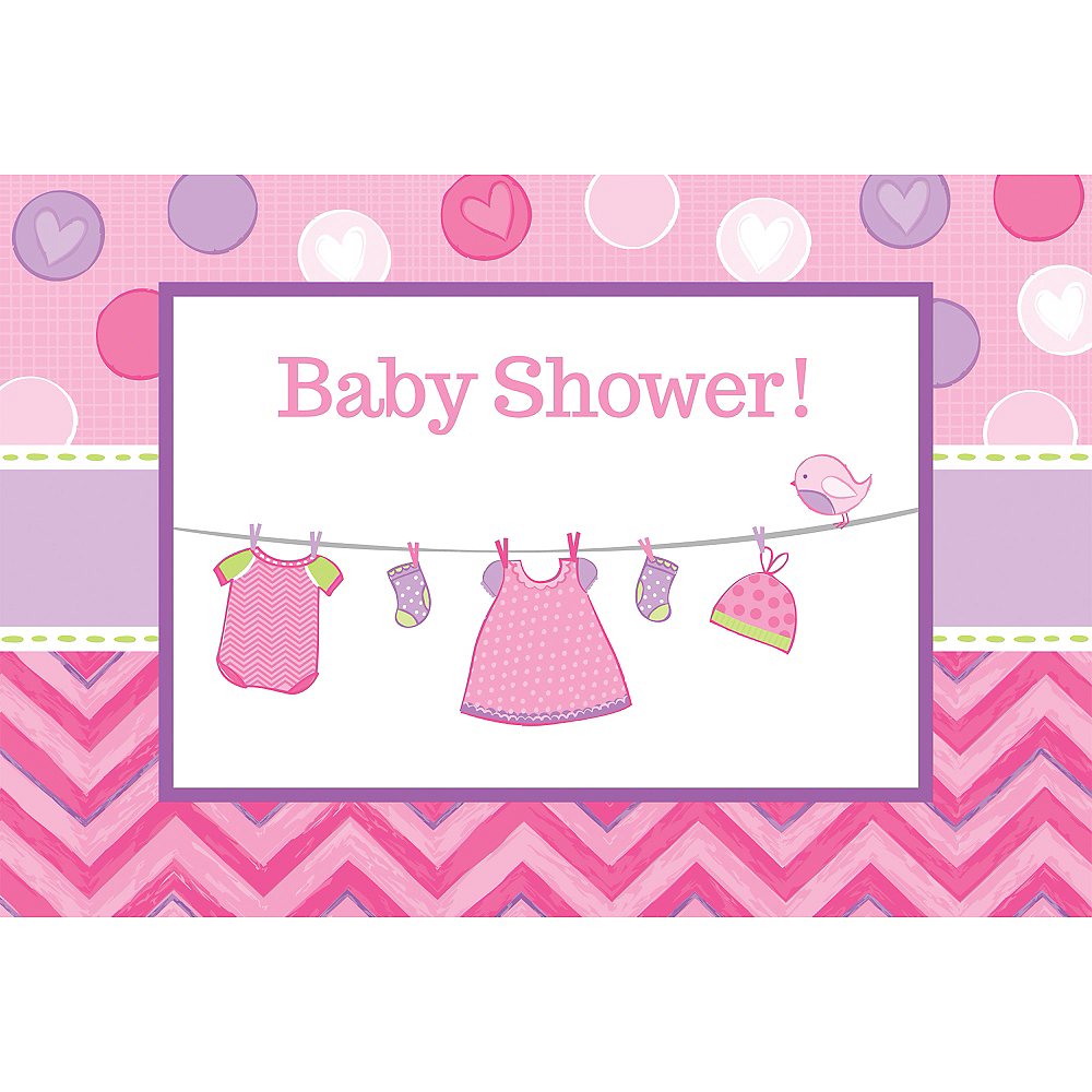 It\'s a Girl Baby Shower Invitations 8ct | Party City