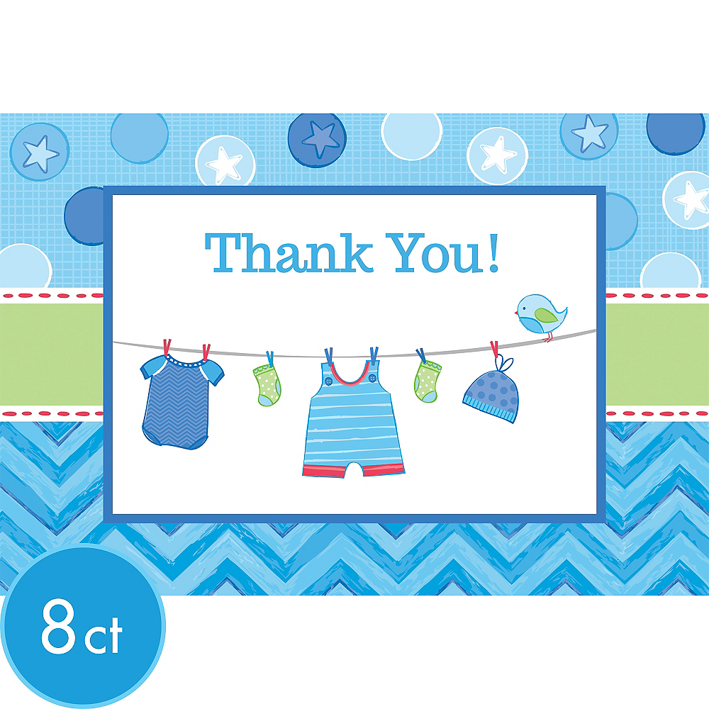 It's a Boy Baby Shower Thank You Notes 8ct Image #1