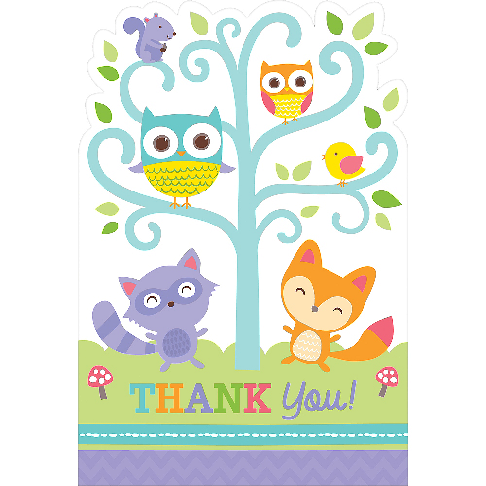 woodland baby shower thank you notes 8ct image 1