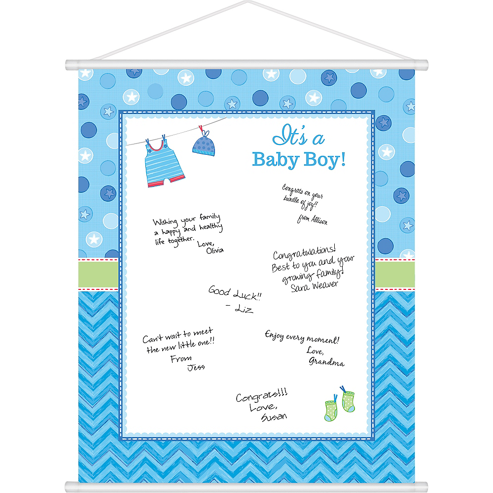 Its A Boy Baby Shower Sign In Sheet 19in X 24in Party City