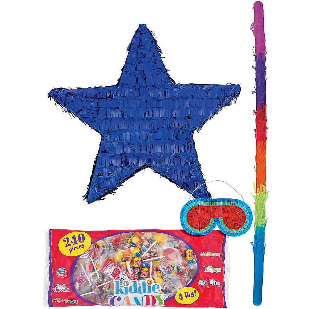 Foil Blue Star Pinata Kit Image #1