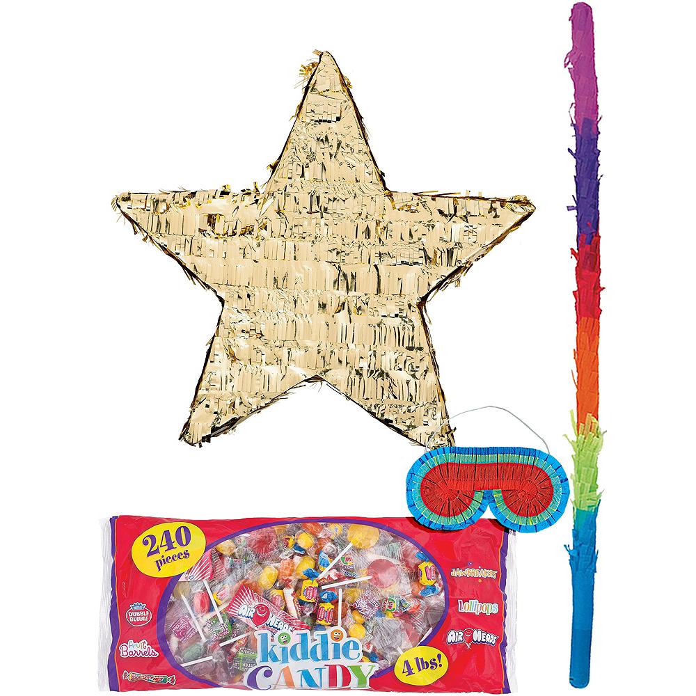 Foil Gold Star Pinata Kit Image #1