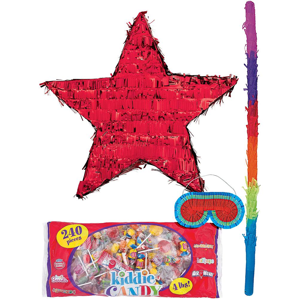 Foil Red Star Pinata Kit Image #1