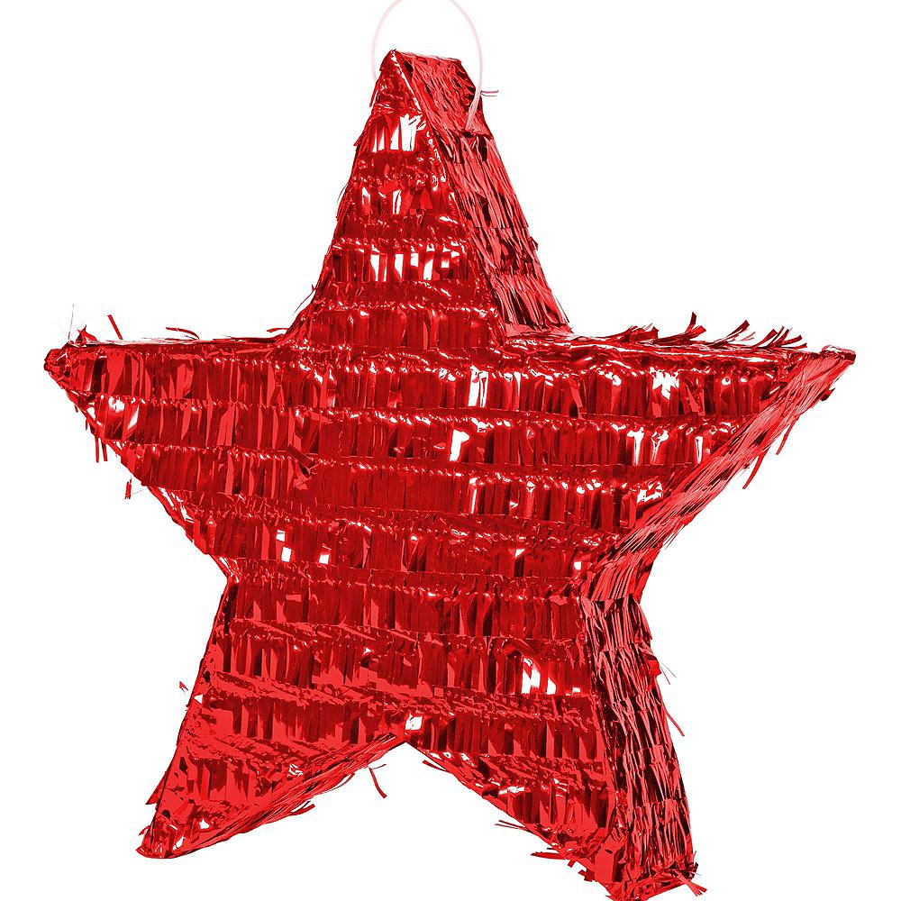 Foil Red Star Pinata Kit Image #2
