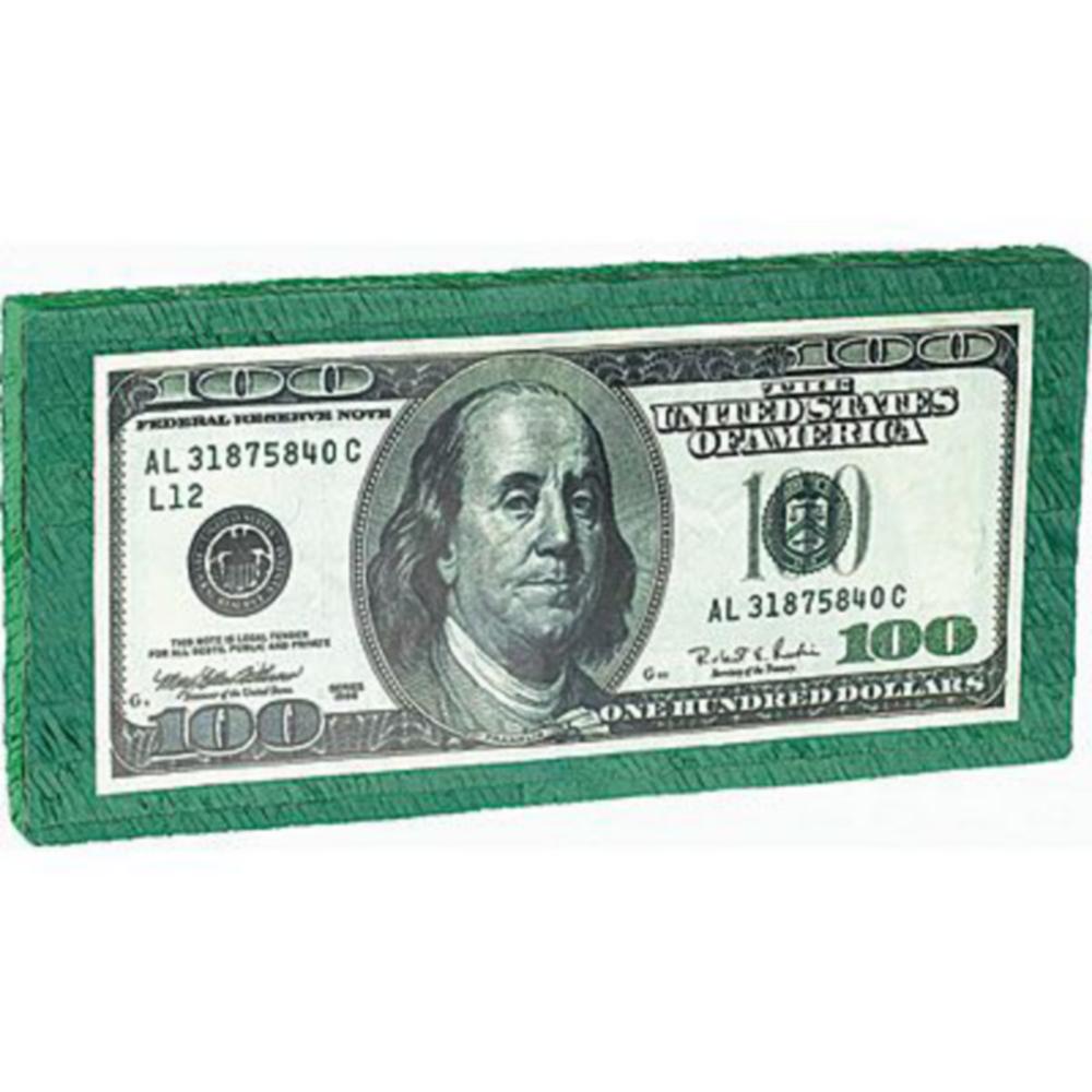 One Hundred Dollar Bill Pinata Kit Image #2