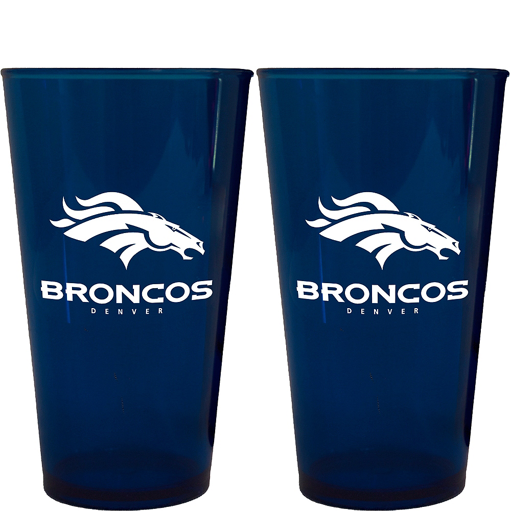 Denver Broncos Pint Cups 2ct Image #1