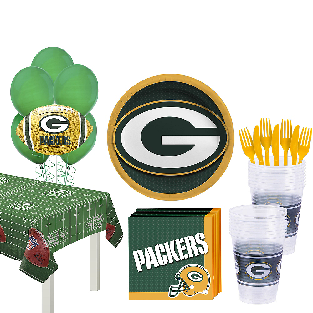 Super Green Bay Packers Party Kit for 18 Guests Image #1