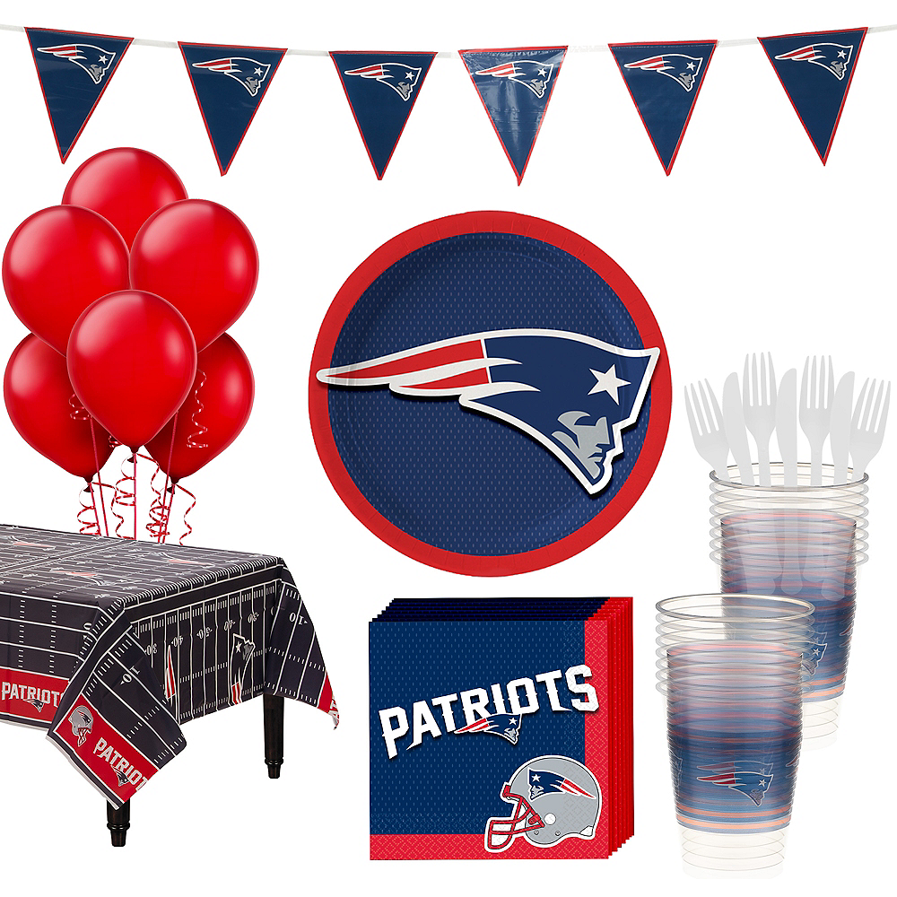Basic New England Patriots Party Kit for 18 Guests Image #1