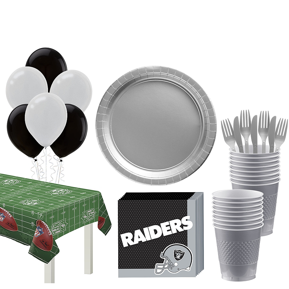 Super Oakland Raiders Party Kit for 18 Guests Image #1