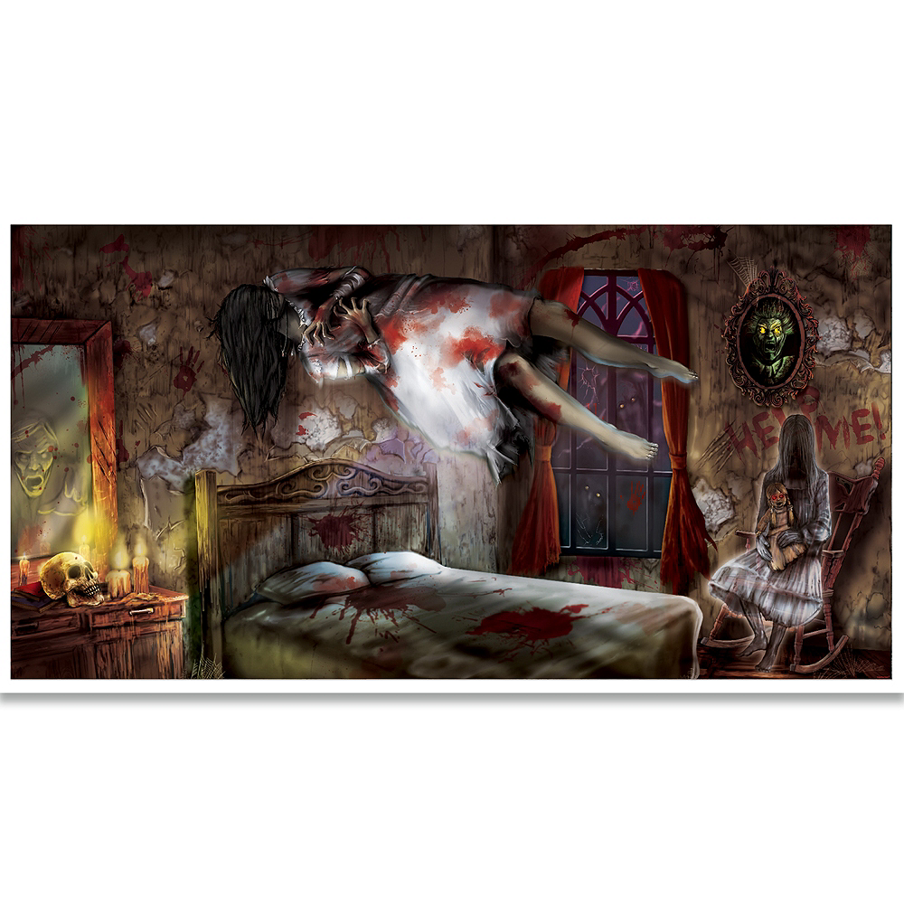 Giant Haunted Mansion Banner 33 1/2in X 65in