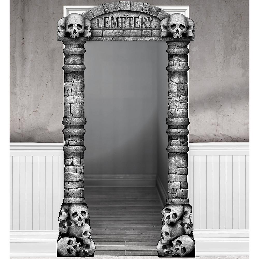 Cemetery Doorframe Decoration Deluxe 45in X 84in
