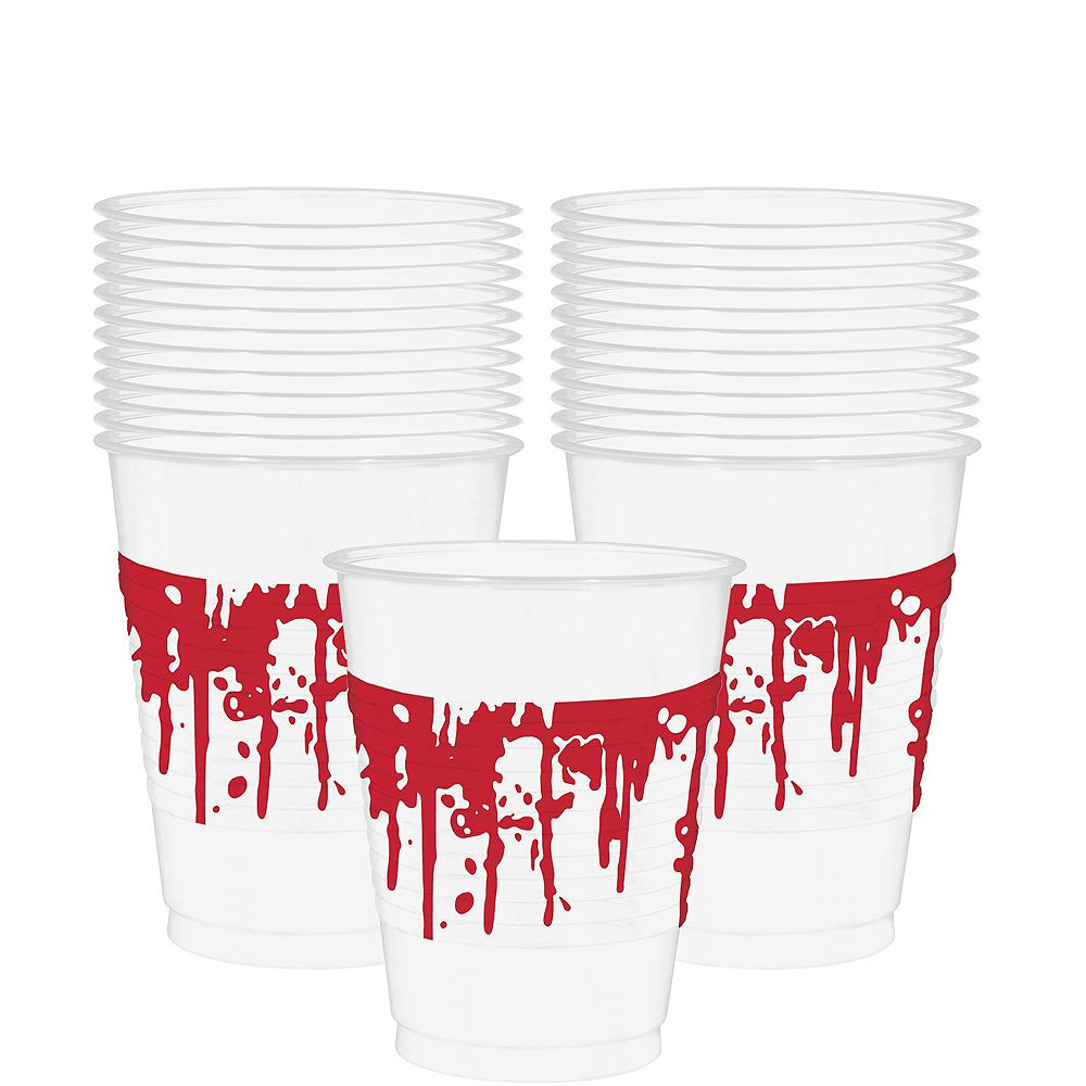 Blood Splatter Plastic Cups 25ct Image #1