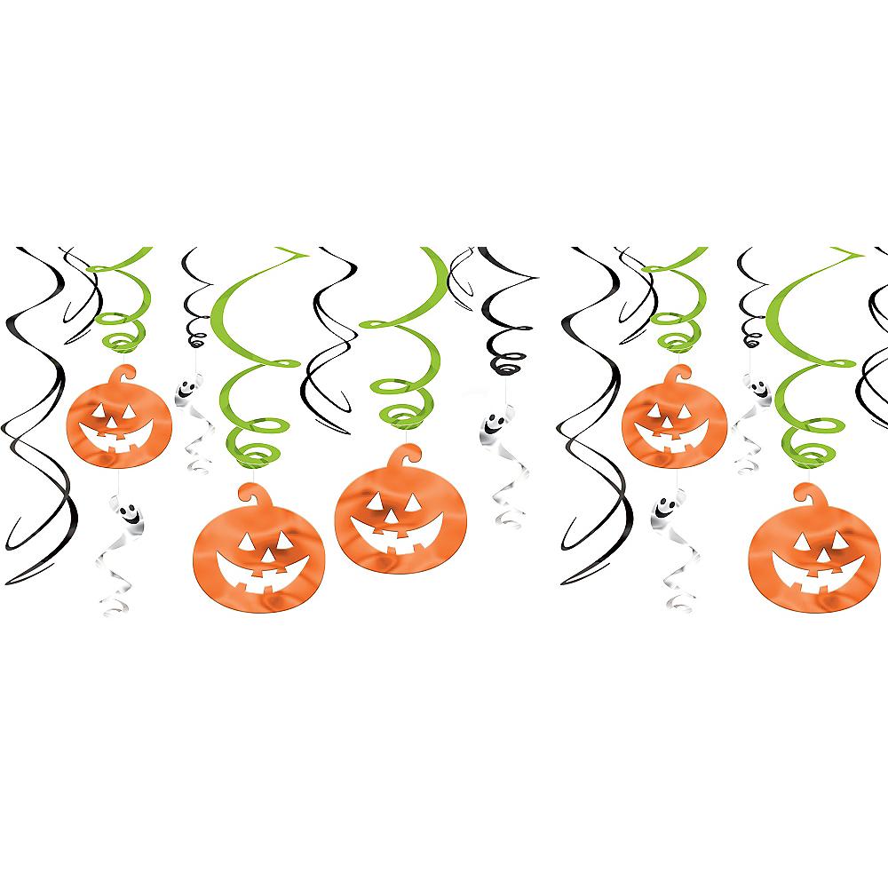 Friendly Ghost & Jack-o'-Lantern Swirl Decorations 12ct Image #1