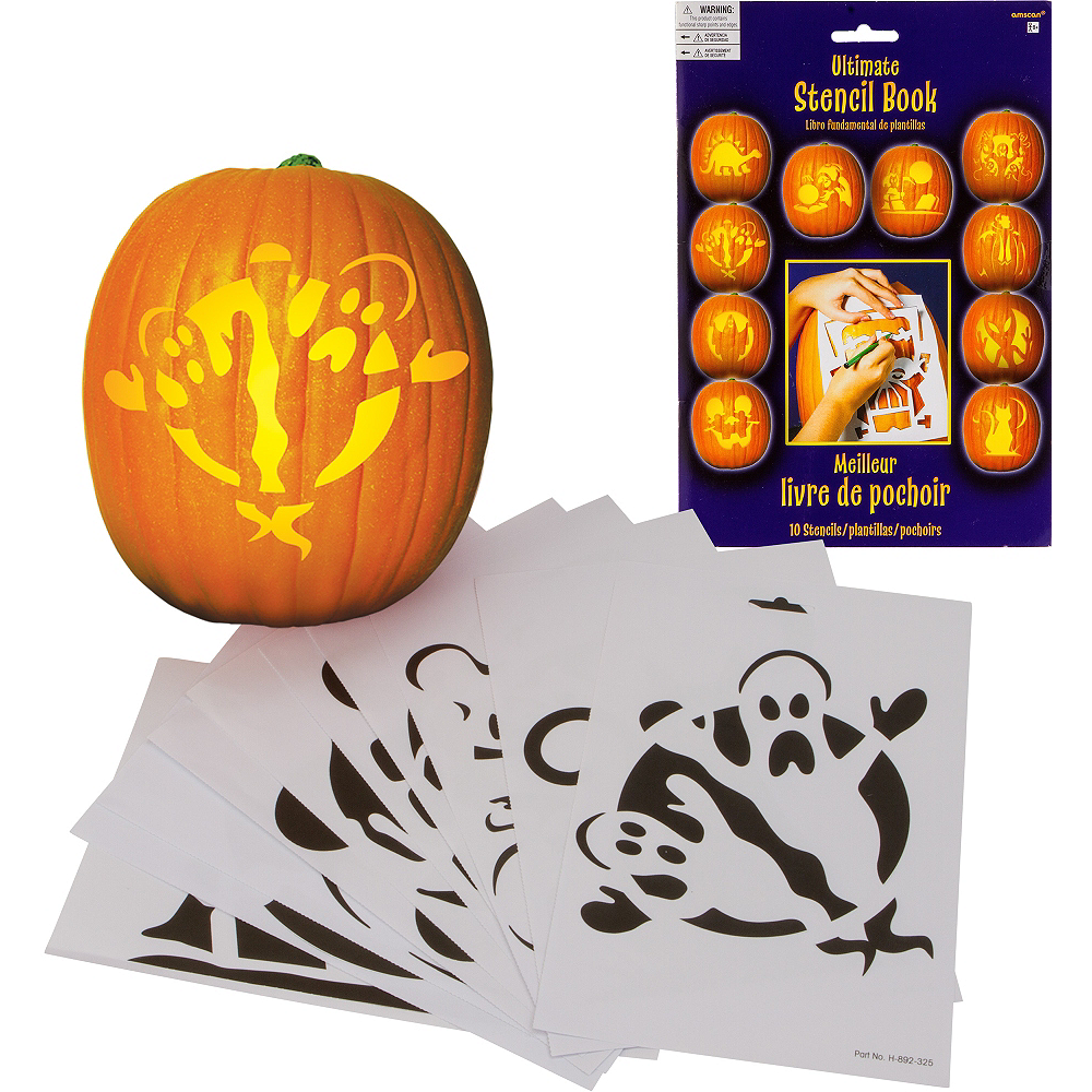 Pumpkin Carving Stencils 10ct Image #1